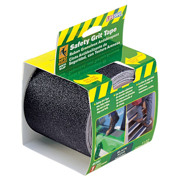 "Incom RE3952 4"" X 15' Black Gator Grip Anti Slip Safety Grit Tape"