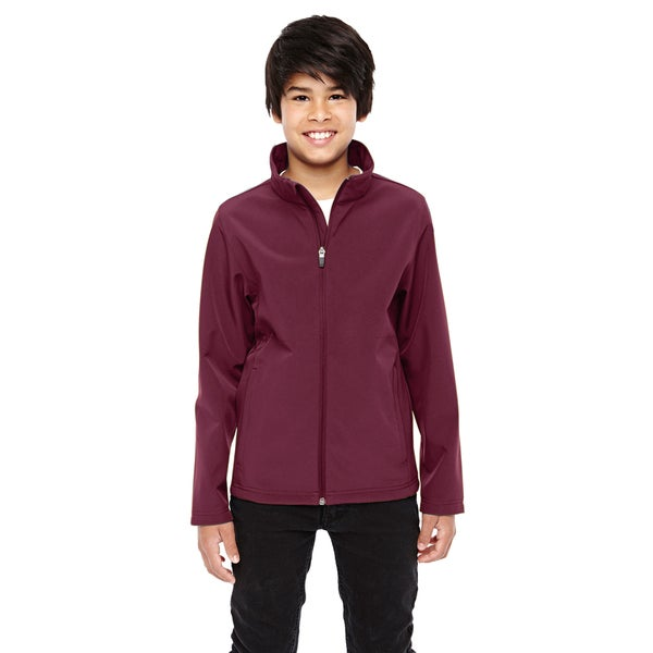 Leader Boys Maroon Soft Shell Sport Jacket