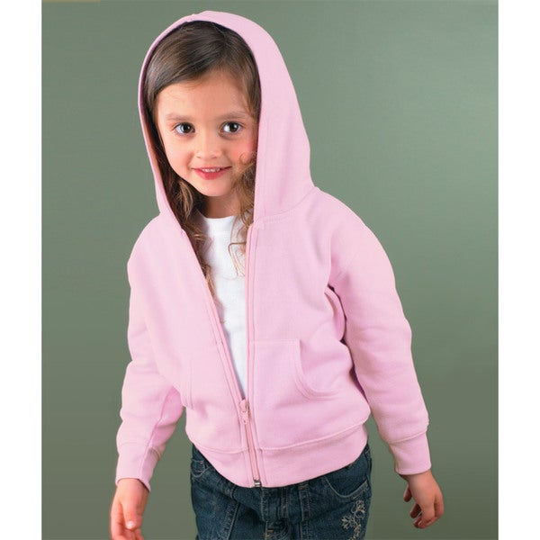 Boys' Pink Fleece Full-Zip Hood