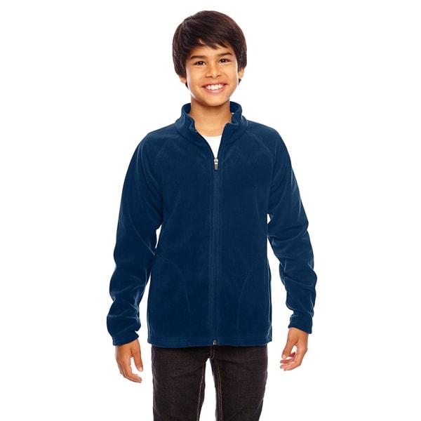 Campus Boys' Dark Navy Microfleece Sport Jacket