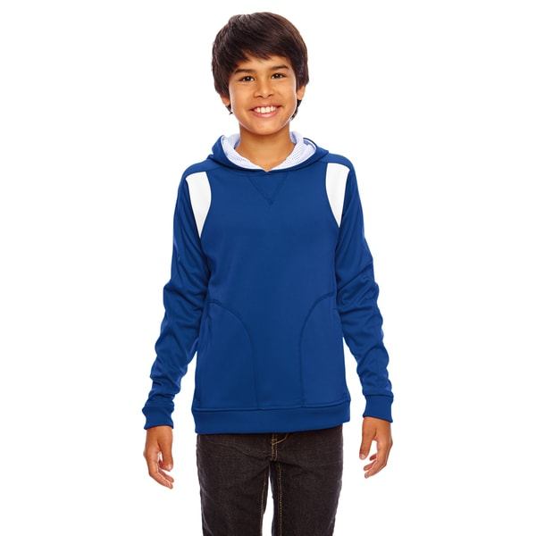 Elite Boys' Royal/White Cotton-blend Performance Sport Hoodie 19545097