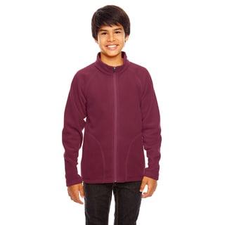 Campus Boys' Maroon Microfleece Sport Jacket