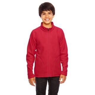 Campus Boy's Red Microfleece Sport Jacket