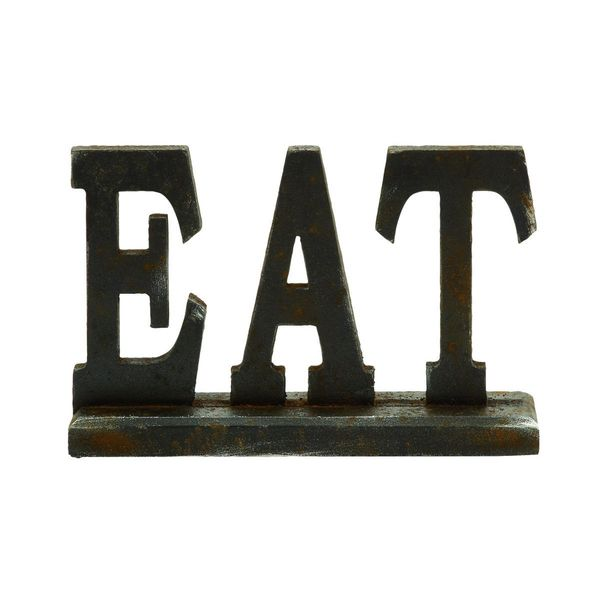 Wood Eat Table Sign