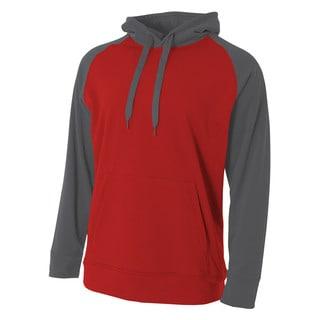 Color Block Boy's Tech Fleece Hoodie Scarlet Red/Graphite