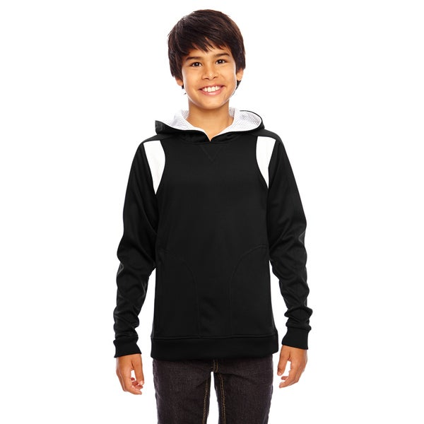 Elite Boys' Performance Black/White Hoodie 19545155
