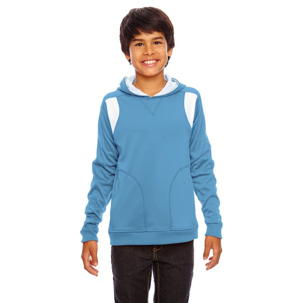 Elite Boys Blue/White Performance Sport Hoodie Sport