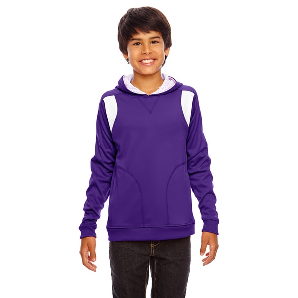 Elite Boys Purple/White Performance Sport Hoodie