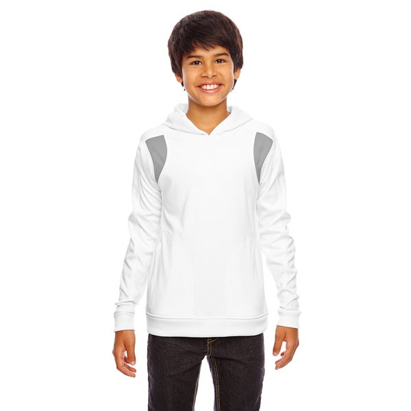 Elite Boy's White/Sport Graphite Performance Hoodie 19545219