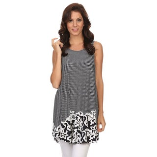 Women's Sleeveless Border Paisley Top