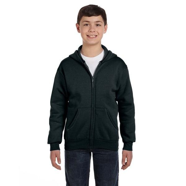Comfortblend Boy's Black Ecosmart Full-zip Hoodie Sweatshirt