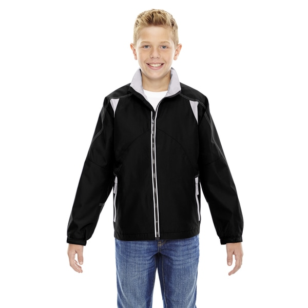 Endurance Boy's Black Colorblock Lightweight Jacket