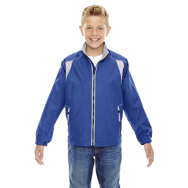 Endurance Boys' Nautical Blue 413 Lightweight Colorblock Jacket