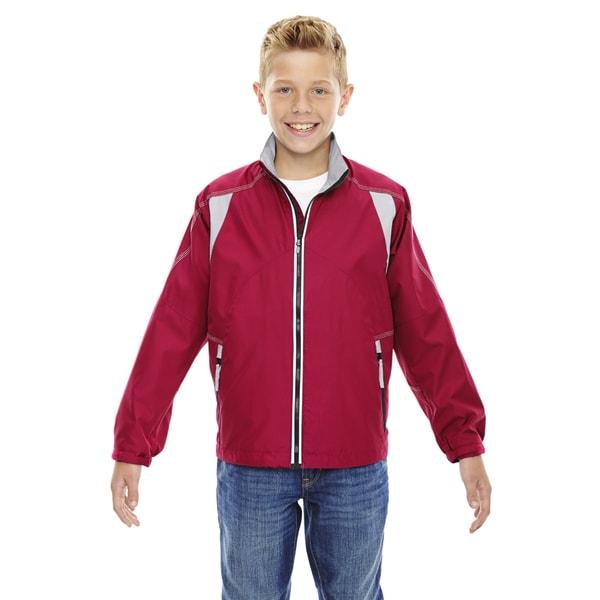 Endurance Boys Red Lightweight Colorblock Jacket