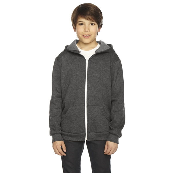 Flex Boy's Dark Heather Grey Fleece Zip Hoodie