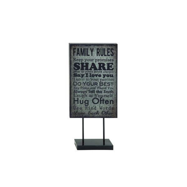 Black/Grey Metal Table Plaque