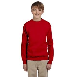 Youth Comfortblend Boys' Deep Red Ecosmart Crewneck Sweatshirt