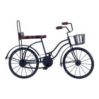 Metal, Wood 19-inchW, 12-inchH Bicycle
