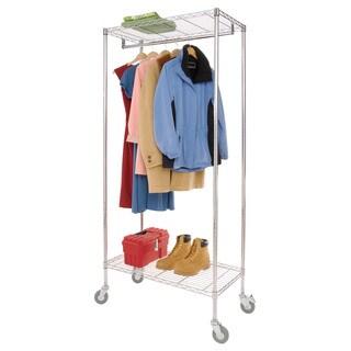 Richards Homewears Chrome Stainless Steel Metro Garment Rack