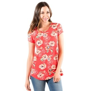 DownEast Basics Floral Anytime Tee