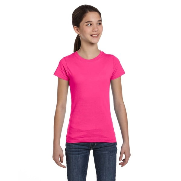 Fine Girl's Hot Pink Jersey T-Shirt