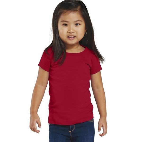 Fine Girls' Garnet Jersey Longer-length T-shirt