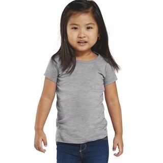 Girls' Heather Fine Jersey Longer-length T-Shirt
