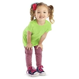 Fine Girl's Key Lime Longer-length Jersey T-Shirt