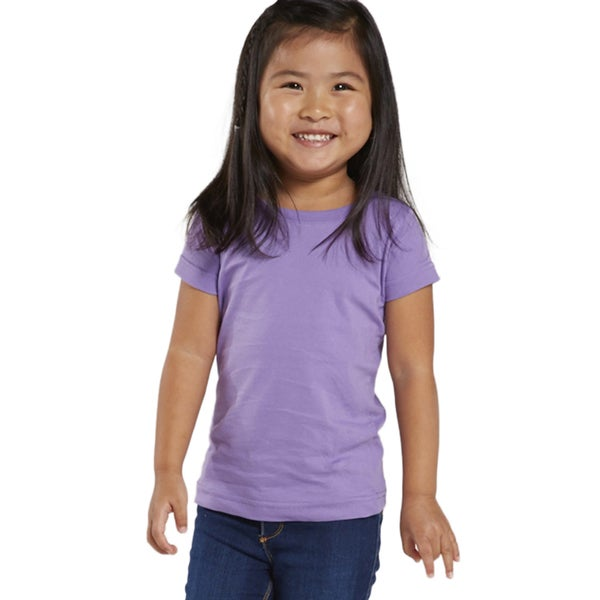 Fine Girls' Lavender Jersey Longer Length T-shirt