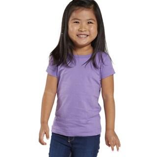 Fine Girls' Lavender Jersey Longer Length T-shirt