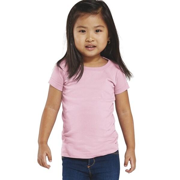 Fine Girl's Pink Jersey Longer-length T-shirt