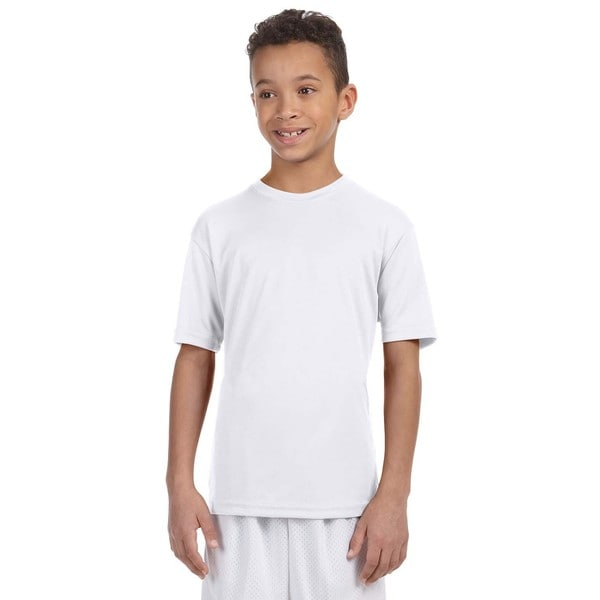 Boys' White Athletic Sport T-shirt