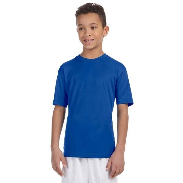 Boys' Royal Blue Polyester Athletic Sport T-shirt
