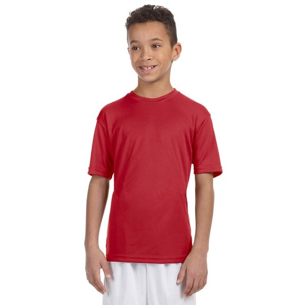 Boy's Red Athletic Sport T-Shirt