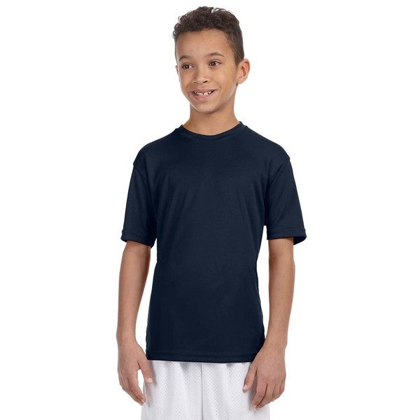 Boys Navy Athletic Sport T-shirt