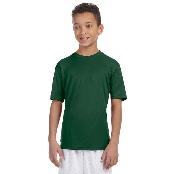 Boys' Dark Green Athletic Sport T-Shirt