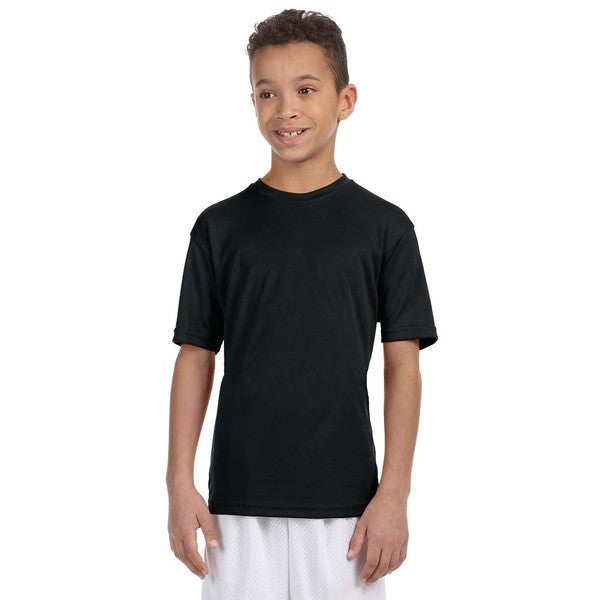 Boys' Athletic Black Sport T-shirt