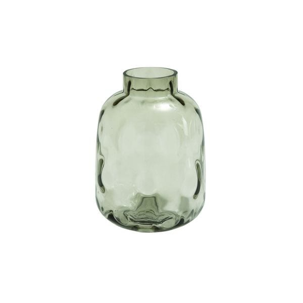 New Traditional Smoked Gray Bumpy Glass Vase
