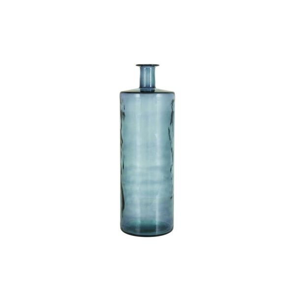 Iridescent Blue Glass Vase