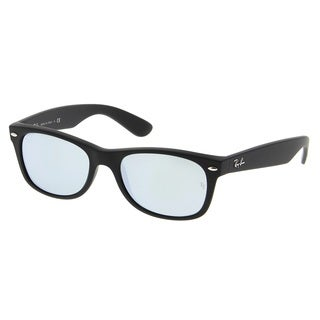 Ray-Ban RB2132 622/30 New Wayfarer Black Frame Silver Flash 55mm Lens Sunglasses
