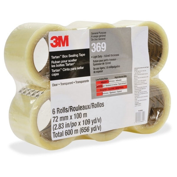 Tartan General Purpose Packaging Tape - Clear (24/Carton)