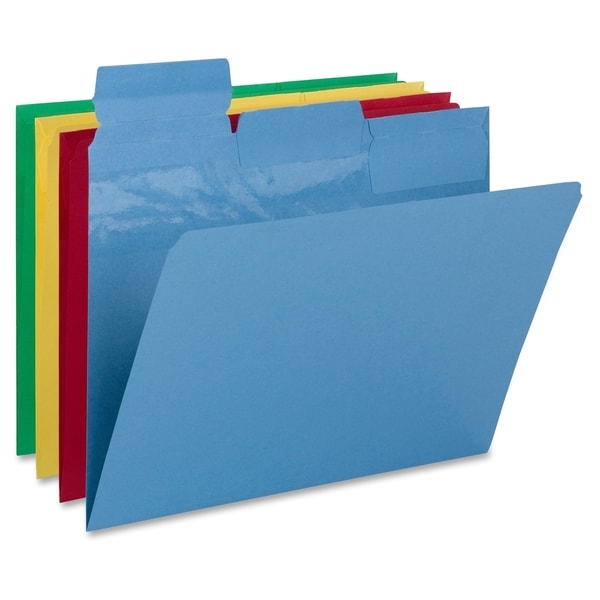 Smead Pick-A-Tab Color File Folder - Assorted (24/Pack)