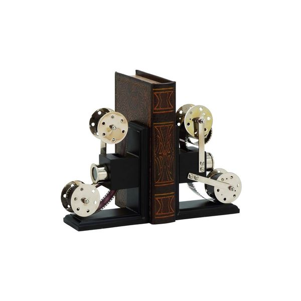 Wood/Aluminum 9-inch x 6-inch Book Ends (Set of 2)