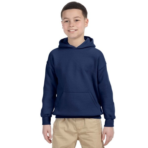 Gildan Boys' Navy Heavy Blend Hooded Sweatshirt