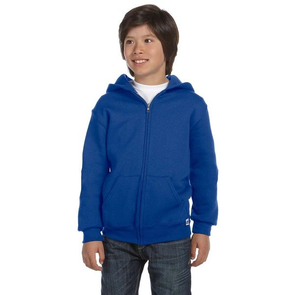 Dri-Power Boy's Royal Blue Fleece Full-Zip Hoodie