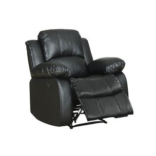 Classic Oversize and Overstuffed Single Seat Bonded Leather Recliner Chair
