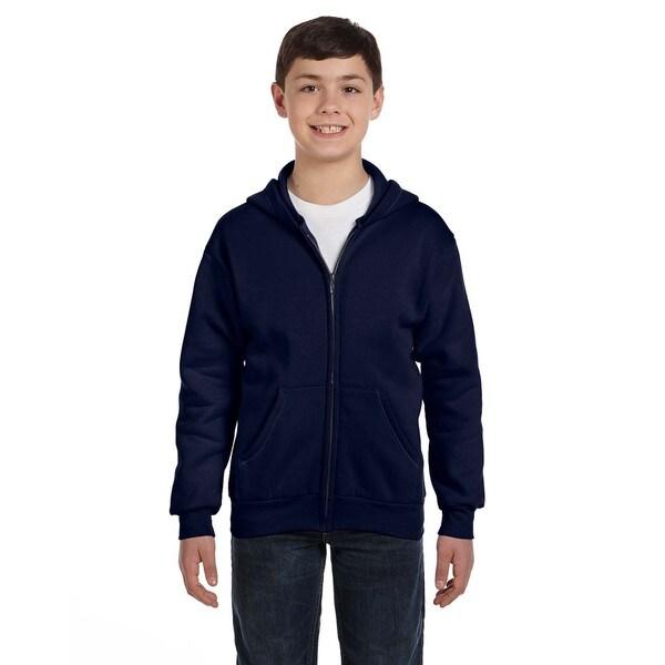 Comfortblend Boy's Navy Ecosmart Full-zip Hoodie Sweatshirt