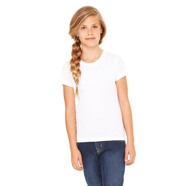 Jersey Girl's White Short-sleeve T-Shirt (14-16)