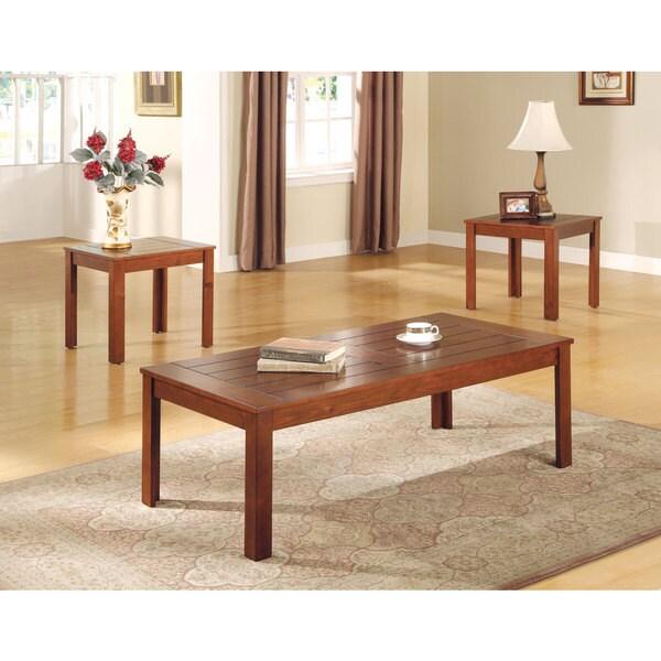 Pine 3-piece Table Set