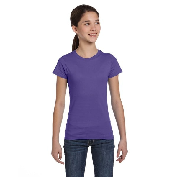 Girls' Purple Cotton Jersey T-shirt